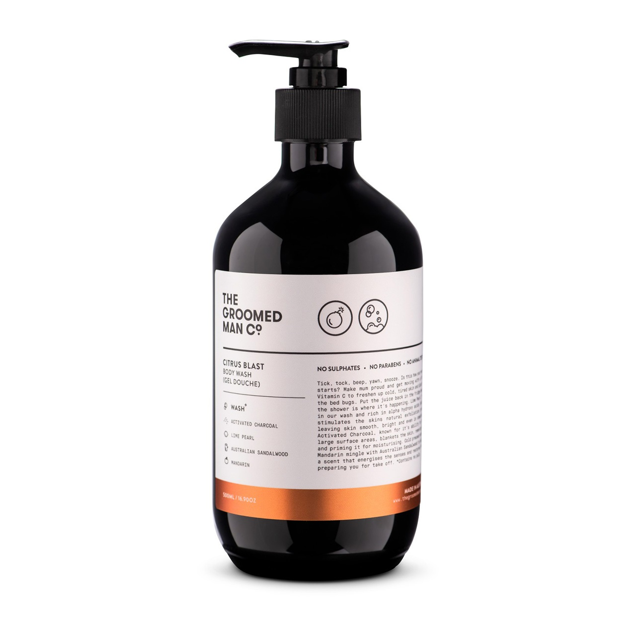 The Groomed Man Co. Citrus Blast Hand and Body Wash